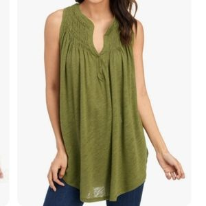 We the Free by Free People Green Olive top Small